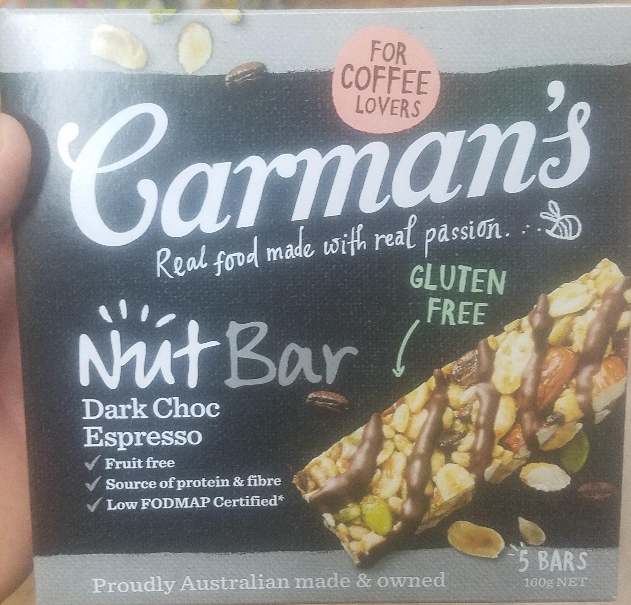 Nut Bar Dark Choc Espresso - Product