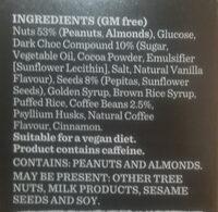 Nut Bar Dark Choc Espresso - Ingredients