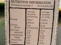 Roasted nut bar - Nutrition facts - en