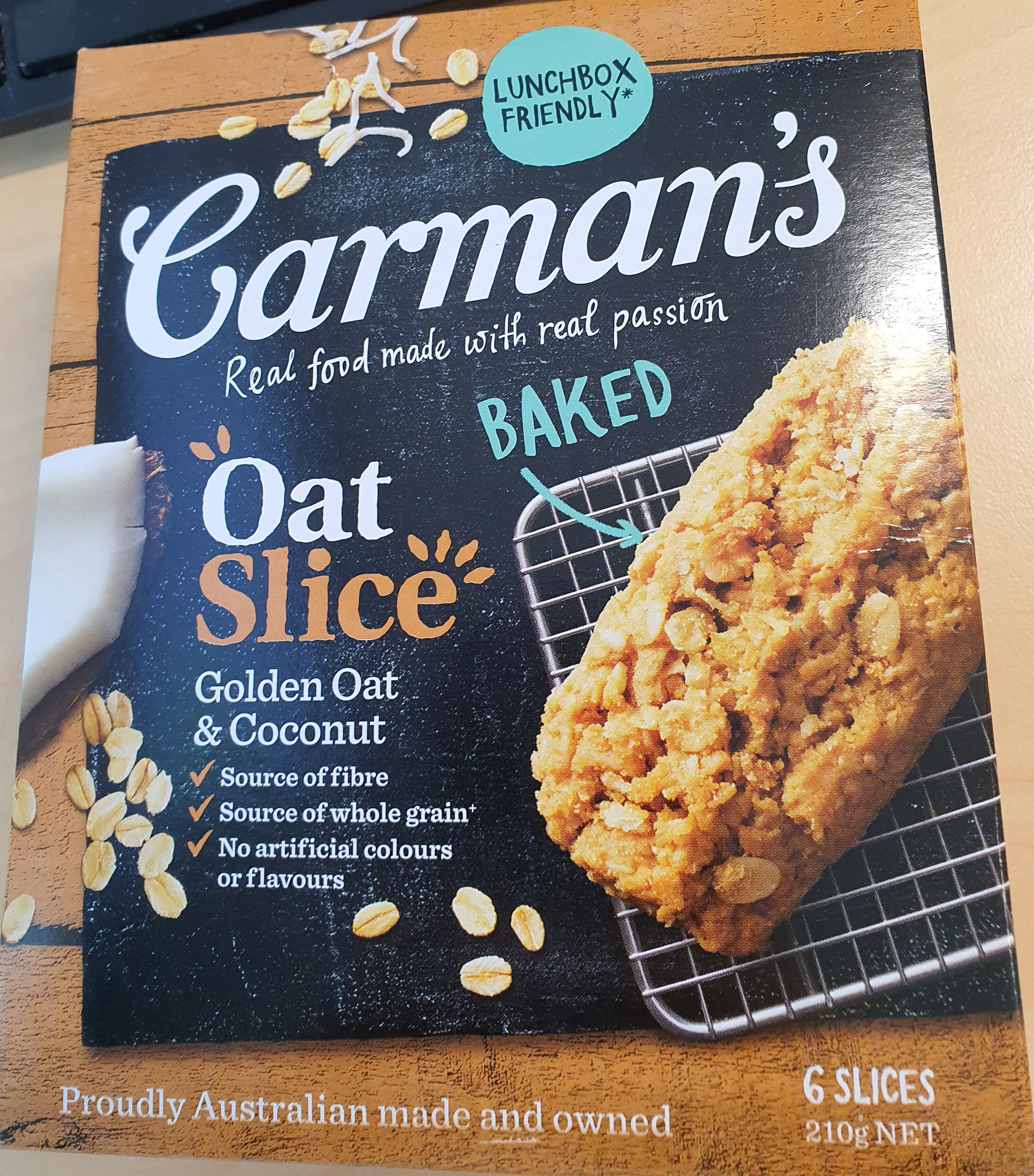 Oat Slice - Golden Oat and Coconut - Product - en