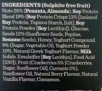 Proteine bar yoghurt & berry - Ingredients