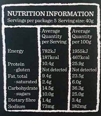 Proteine bar yoghurt & berry - Nutrition facts