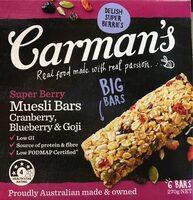 Carman's Super Berry Muesli Bars - Product