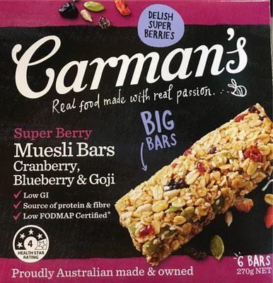 Carman's Super Berry Muesli Bars - Produit - fr
