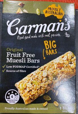Original fruit free muesli bars - Produit - en
