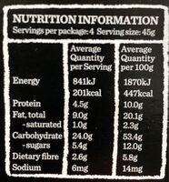 Original fruit free muesli bars - Informations nutritionnelles - en