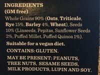 Gourmet Porridge Sachets - Ingrédients - fr