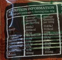 Protein bar - Nutrition facts - en
