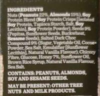 Carman's Gourmet Protein Bars Salted Dark Choc & Almond - Ingrediënten