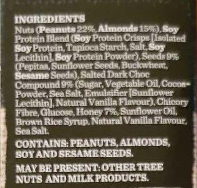 Carman's Gourmet Protein Bars Salted Dark Choc & Almond - Ingrédients - en