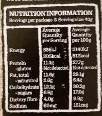 Carman's Gourmet Protein Bars Salted Dark Choc & Almond - Voedingswaarden