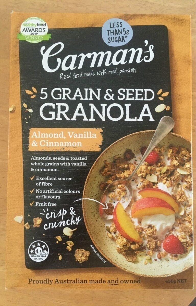 5 grain & seed granola - Product - en
