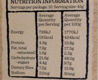 5 grain & seed granola - Nutrition facts - en
