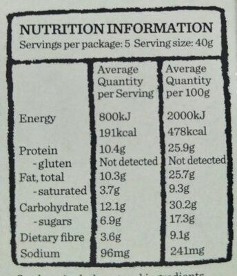 Protein Cookies & Cream Bars - Nutrition facts - en