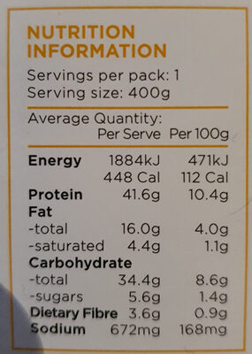 Chicken Meatballs - Nutrition facts - en