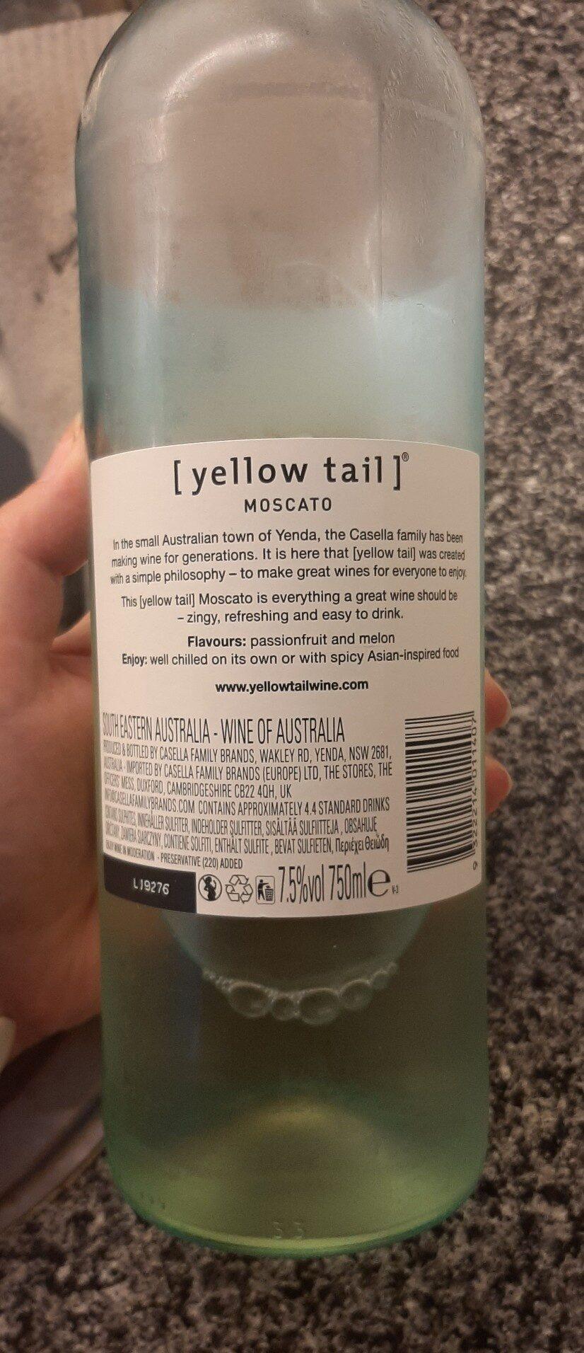 Yellow Tail Moscato - Ingredientes - de
