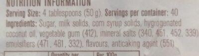 frappe powder - Ingredients - en