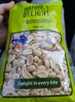 Nature's Delight Australian Peanuts Roasted and Unsalted - Product