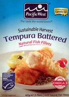 Sustainable Harvest Tempura Battered Natural Fish Fillets - Produit