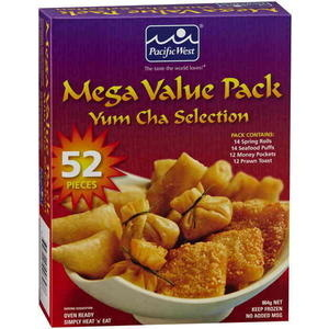 Pacific West Frozen Yum Cha Selection Mega Value Pack 52 Pieces - Product