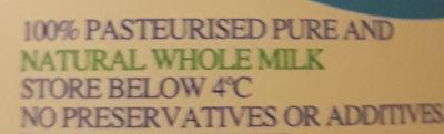 Tweedvale Pasteurised Milk - Ingredients