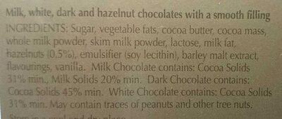 Lindor Assorted - Ingredients - en