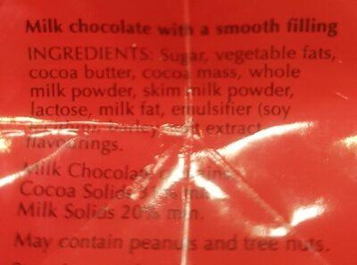 Lindor - Ingredients