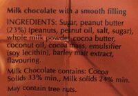 Lindor peanut butter - Ingredients - en