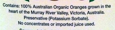Orange Juice - Ingredients