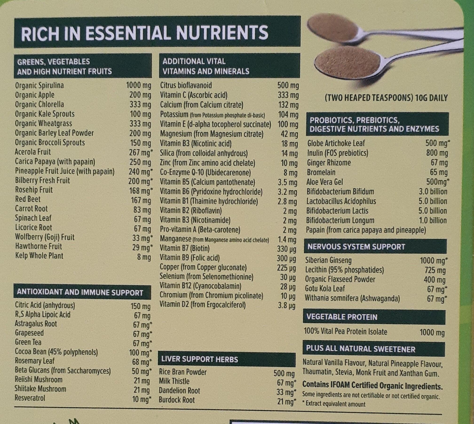 Vital all in one - Ingredients - en