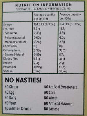 Vital all in one - Nutrition facts - en
