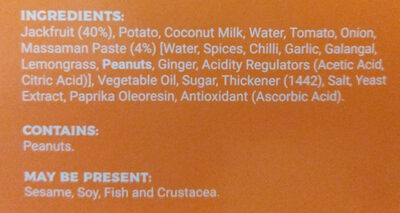 Jackfruit Massaman Curry - Ingrédients - en