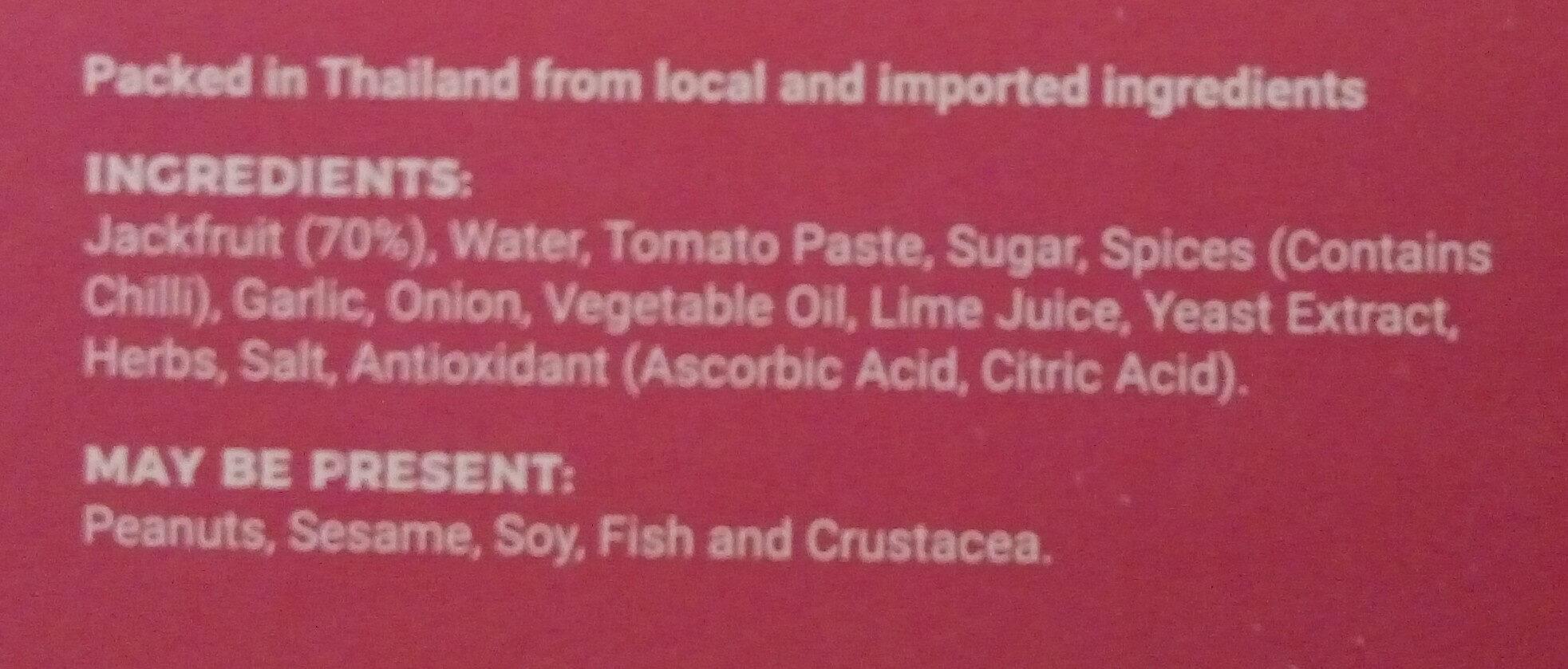 Jackfruit Tex Mex - Ingredients - en