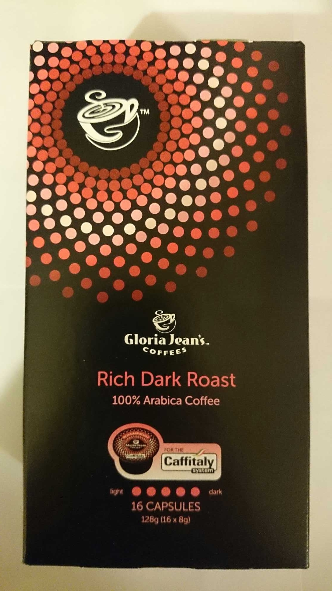 Gloria Jeans Rich Dark Roast 16 Coffee Capsules - Product