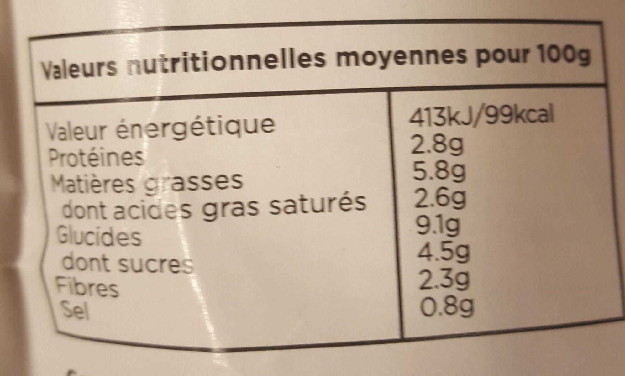 Korma - Informations nutritionnelles - fr