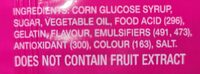 Zappo- strawberry and grape - Ingredients - en