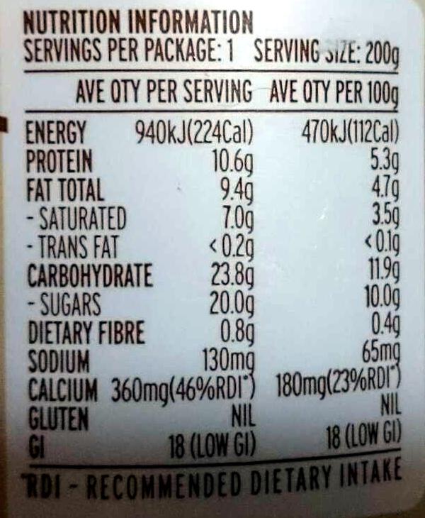 Pot Set Arabica Bean Cafe Latte Creamy Yoghourt - Nutrition facts - en