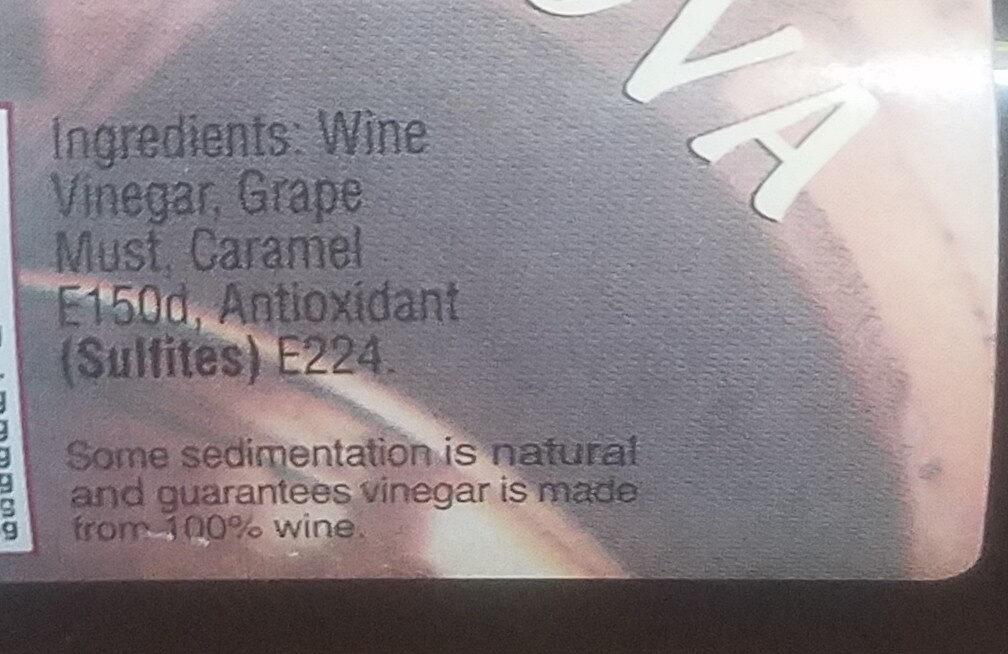 Balsamic Vinegar of Modena - Ingredients