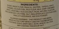 เวเฟอร์ชนิดแท่งกลิ่นคุกกี้แอนด์ครีม - Ingrédients - th
