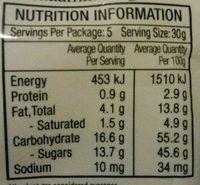 Caramel Macadamia Fudge - Voedingswaarden - fr