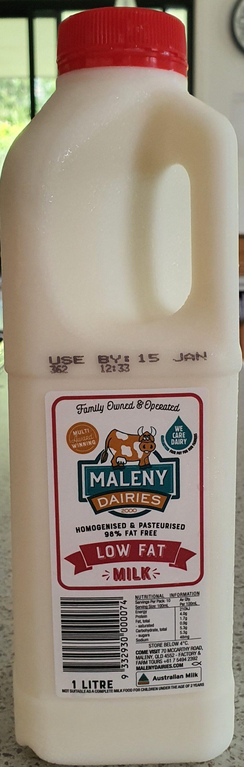 Maleny Dairies Low Fat Milk - Ingrediënten - en