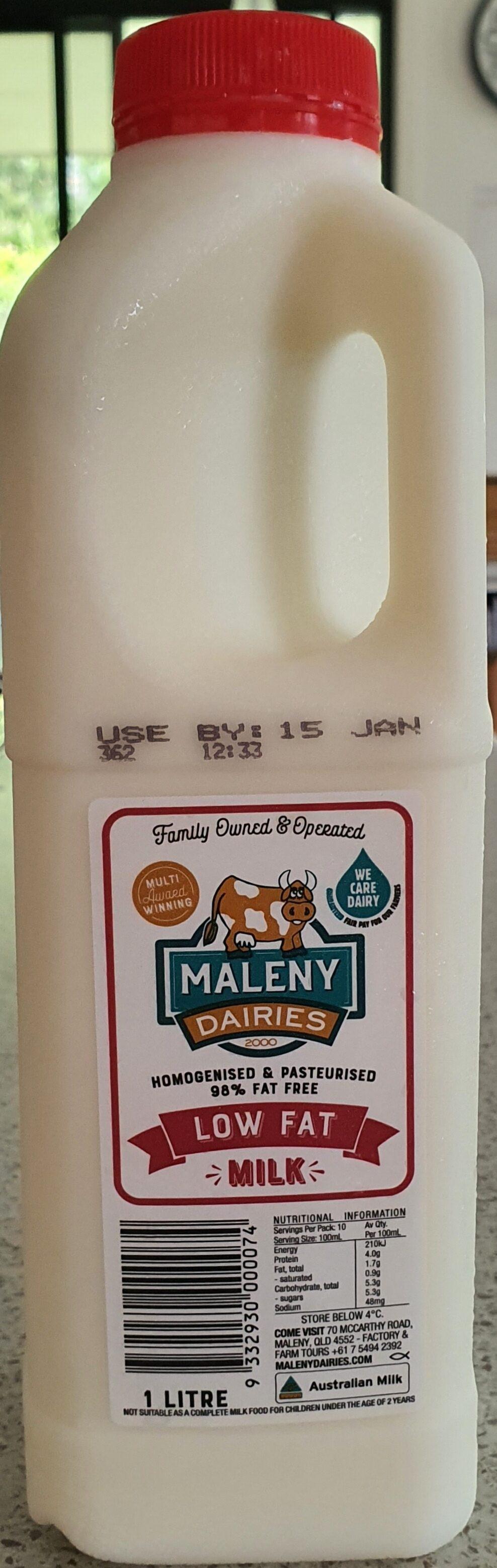 Maleny Dairies Low Fat Milk - Recyclinginstructies en / of verpakkingsinformatie - en