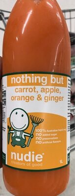Nothing but carrot, apple, orange & ginger - Product