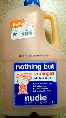 Nothing But 31.5 Oranges Pulp Free Juice - Product