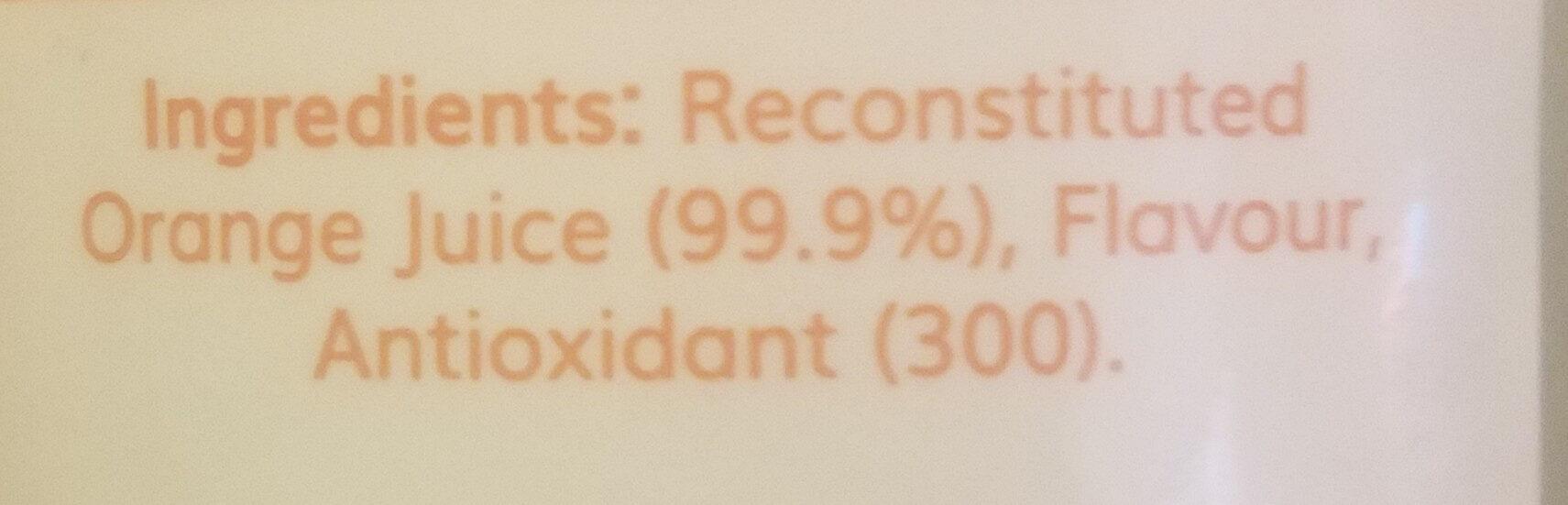 Orange Juice - Ingrediënten