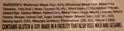 The Simply Fine Food Company Wholegrain Wraps - Ingredients