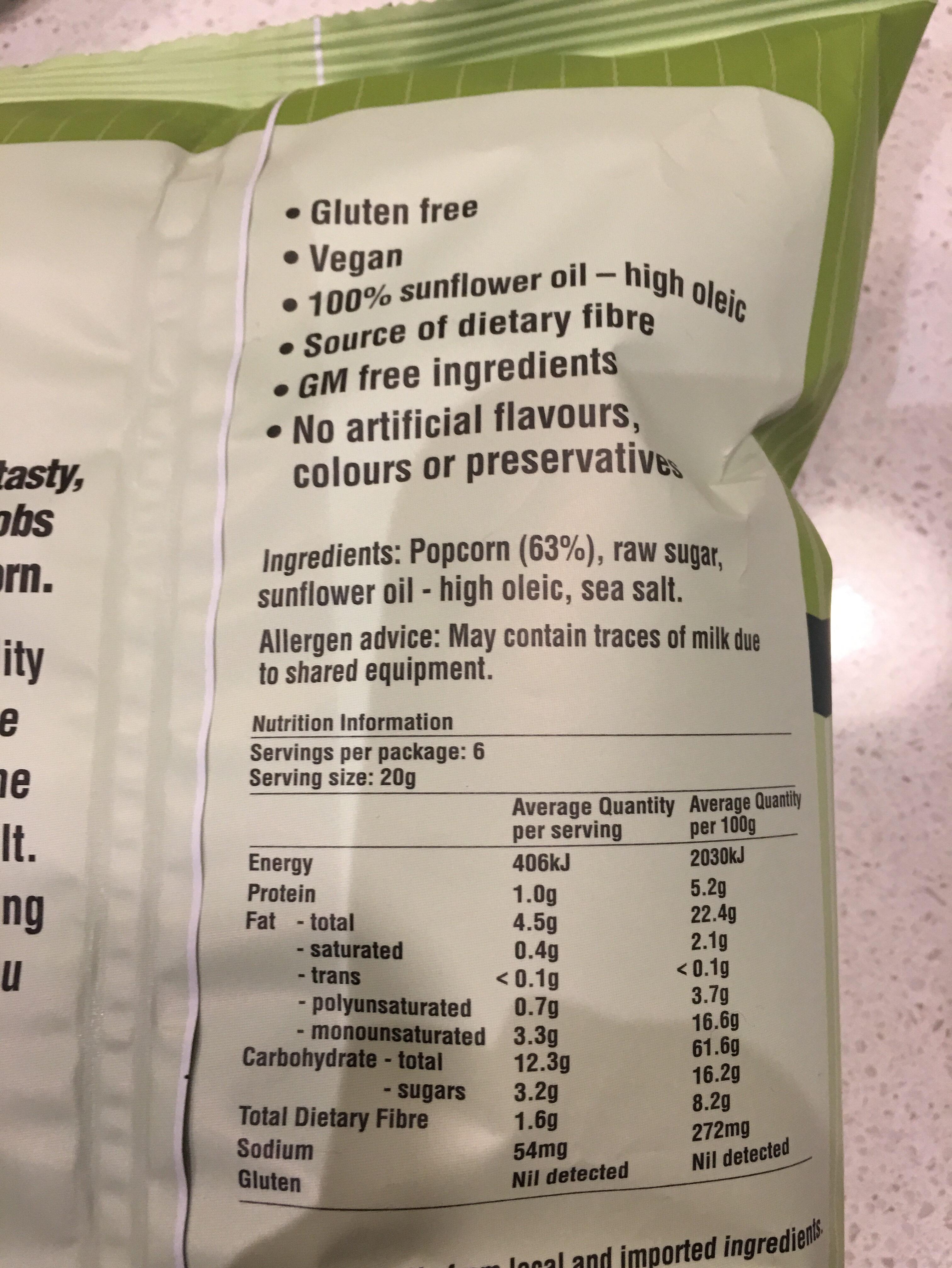 Cobs natural - Ingrédients - en