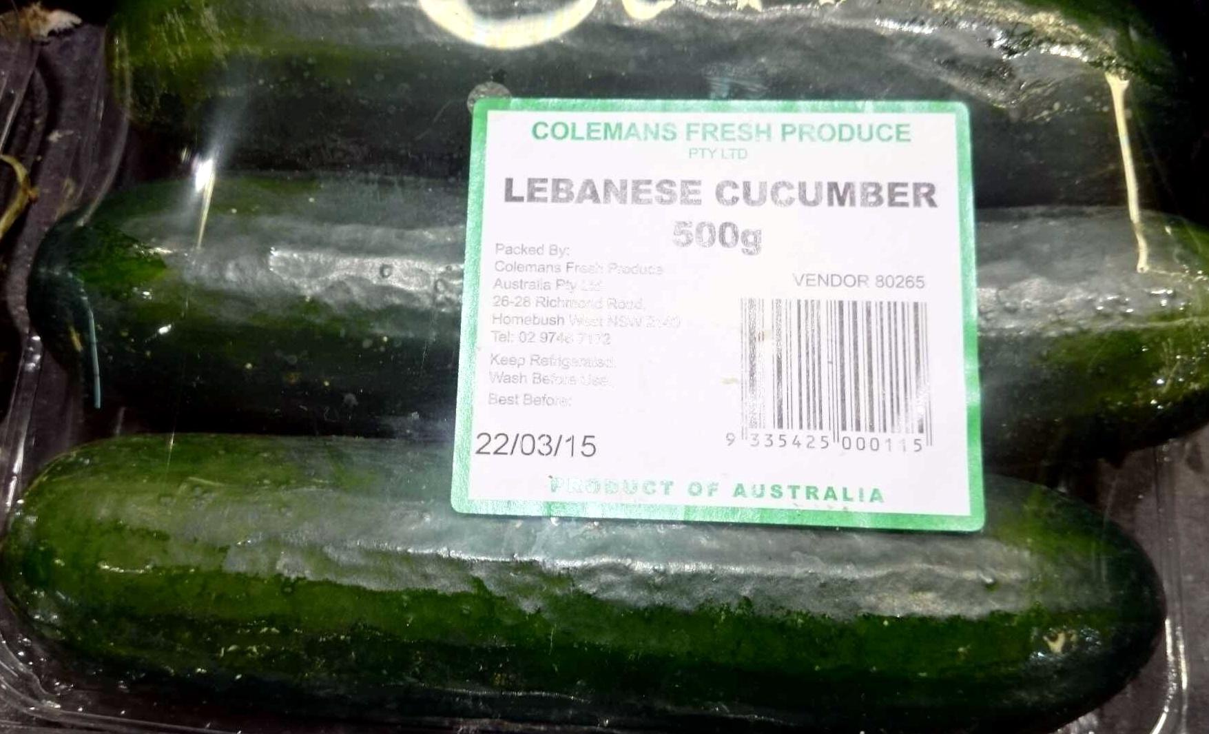 Lebanese Cucumber - Product - en