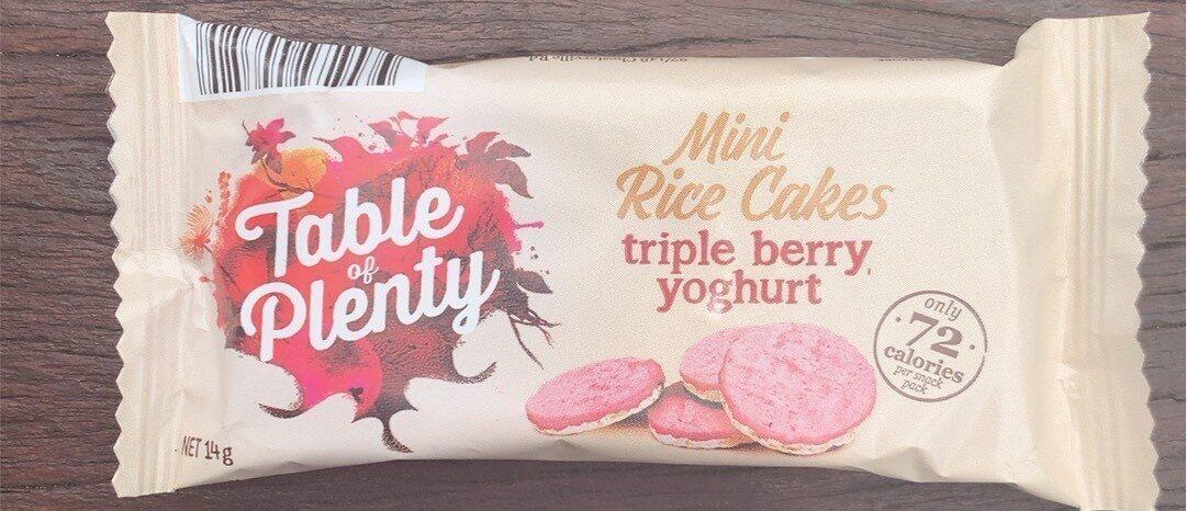 Mini Rice Cakes triple berry yoghurt - Produit - en