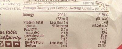 Mini Rice Cakes triple berry yoghurt - Informations nutritionnelles - en